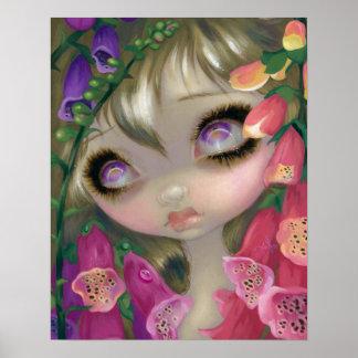 Poisonous Beauties 9: Foxgloves fairy ART PRINT