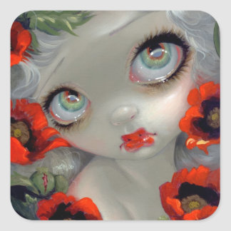 """Poisonous Beauties III: Opium Poppy"" Sticker"