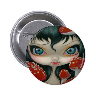 """Poisonous Beauties VI: Fly Agaric"" Button"