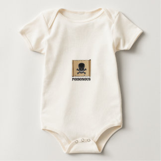 poisonous bones baby bodysuit