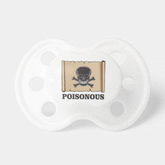 poisonous bones baby pacifier