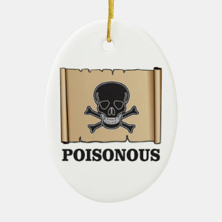 poisonous bones ceramic oval ornament