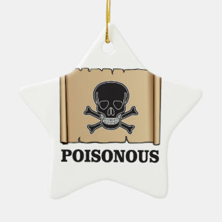 poisonous bones ceramic star ornament