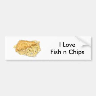 poisson-frites autocollant de voiture