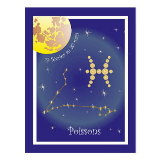 Poissons 19 more février outer 20 Mars postcard