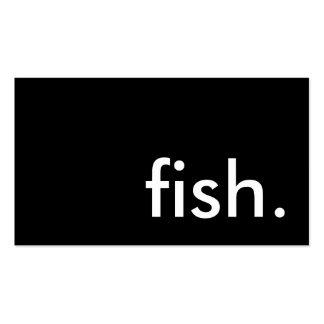 poissons carte de visite standard