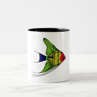 Poissons colorés d ange mugs à café