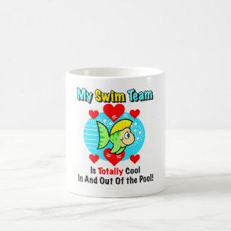 Poissons Drinkware d'équipe de natation Mug Blanc