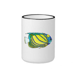 Poissons jaunes d ange mug à café