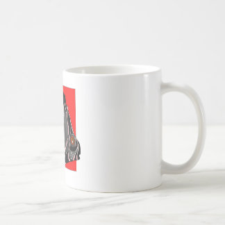 Poissons rayés noirs d ange mugs