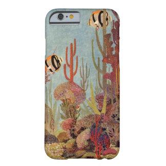 Poissons tropicaux vintages et corail dans l'océan coque barely there iPhone 6