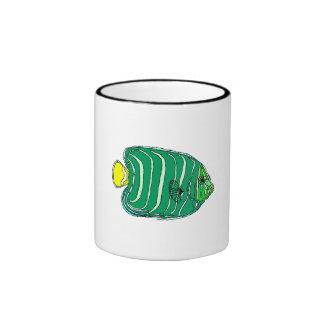 Poissons verts d ange mug