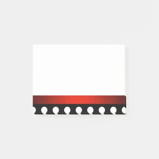 Poke A dot Red Border Post-it® Notes