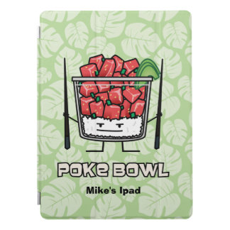 Poke bowl Hawaii raw fish salad chopsticks aku iPad Pro Cover