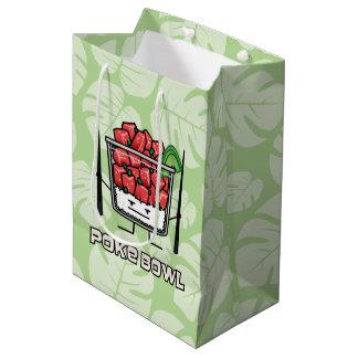 Poke bowl Hawaii raw fish salad chopsticks aku Medium Gift Bag