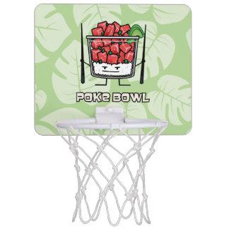 Poke bowl Hawaii raw fish salad chopsticks aku Mini Basketball Hoop