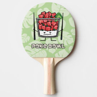 Poke bowl Hawaii raw fish salad chopsticks aku Ping Pong Paddle