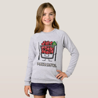 Poke bowl Hawaii raw fish salad chopsticks aku Sweatshirt