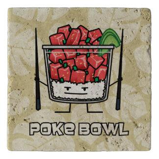 Poke bowl Hawaii raw fish salad chopsticks aku Trivet