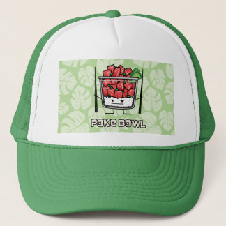 Poke bowl Hawaii raw fish salad chopsticks aku Trucker Hat
