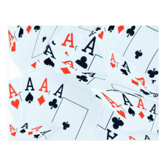 Poker,_Aces,_Pattern,_ Postcard