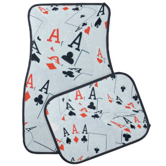 Poker,_Aces,_Set_Of_Four_Car_Floor_Mats Car Mat