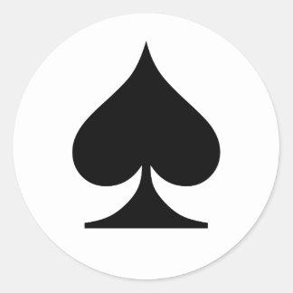 Poker Addict Classic Round Sticker