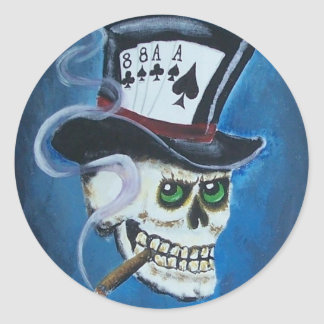 poker art 2 011 classic round sticker