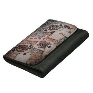 """Poker"" Black Medium Leather Wallet"