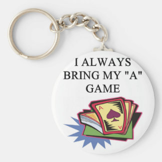 poker bridge card game joke keychain