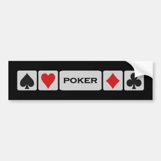 Poker bumpersticker bumper sticker