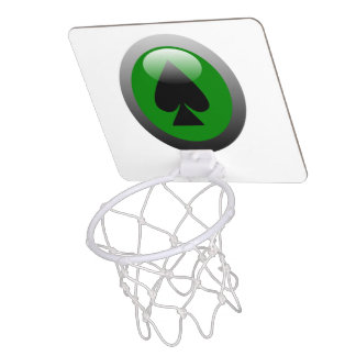 Poker Button - Spade Mini Basketball Hoop