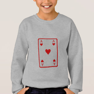 Poker card ace sweatshirt