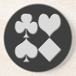 Poker Card Deck Suits Poker Coasters