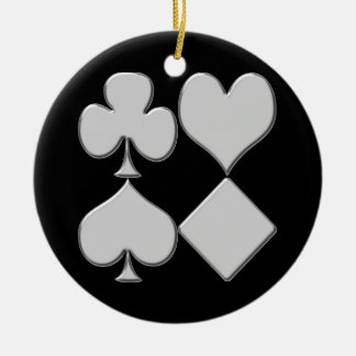Poker Card Suits Christmas Ornament