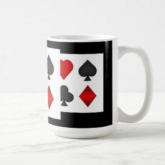 Poker Card Suits Coffee Mug Black Jack