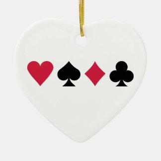 Poker cards ceramic ornament