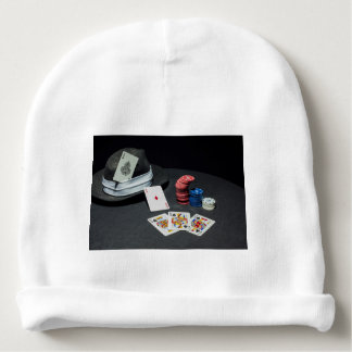 Poker cards gangster hat baby beanie