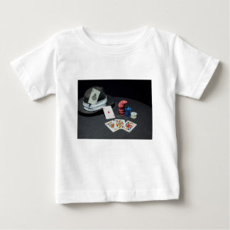 Poker cards gangster hat baby T-Shirt