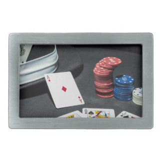 Poker cards gangster hat belt buckle