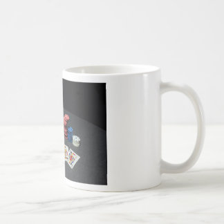 Poker cards gangster hat coffee mug