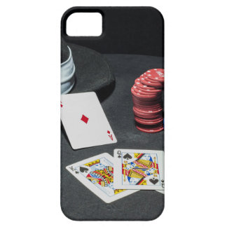 Poker cards gangster hat iPhone 5 cover