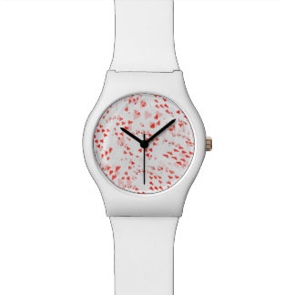 Poker Cards, Hearts Pattern Ladies White May Watch