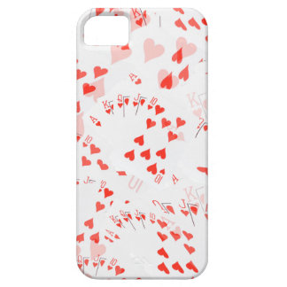 Poker Cards Hearts Straight Flush Pattern, Case For The iPhone 5