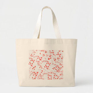 Poker Cards Hearts Straight Flush Pattern, Large Tote Bag