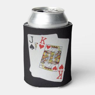 Poker Cards Jack King, Can Cooler