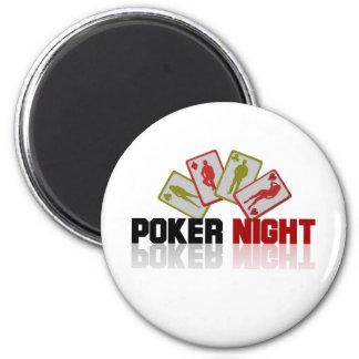 Poker Casino 2 Inch Round Magnet