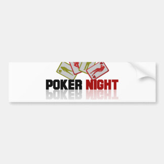 Poker Casino Bumper Sticker