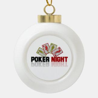 Poker Casino Ceramic Ball Christmas Ornament