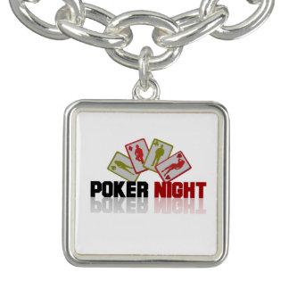 Poker Casino Charm Bracelet